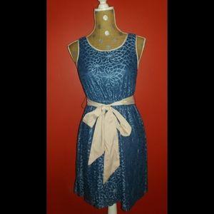 Blue Lace Modcloth Knee Length Dress